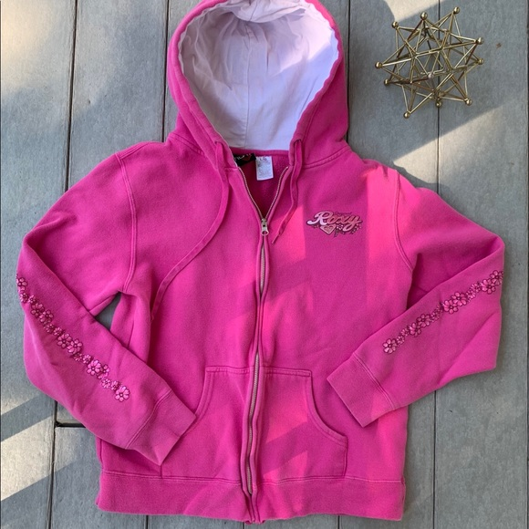 Vintage Roxy Zip-Up Hoodie Large